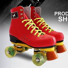 Roller Skates With Lights In Wheels Roller Skates Red Genuine Leather With Led Lighting Wheel