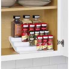 youcopia spice steps 4 tier cabinet spice rack organizer