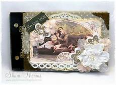 Photo Album Vintage Paperesse Altered Photo Album With Vintage Shabby Look