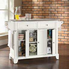 white kitchen island with stainless steel top crosley newport kitchen island with stainless steel top