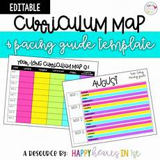 Curriculum Guide Template Editable Curriculum Map And Pacing Guide Template