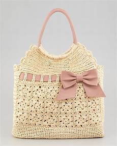 lyst valentino leather and crochet raffia tote bag