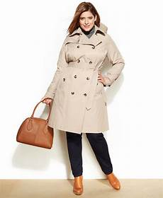 plus size trench coats for 4x foggy fog plus size hooded trench coat shopstyle