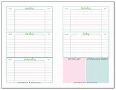 College Weekly Planners Getting Ready For Back To School Student Planner Printables