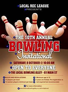 Bowling Flyer Bowling League Flyer Ticket Printing