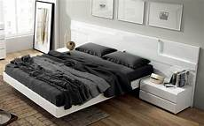 Modern Headboard Lacquered Made In Spain Wood Modern Platform Bed With