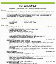 Political Resume Examples Political Campaign Field Organizer Resume Example Florida