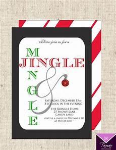 Free Custom Evites Printable Christmas Holiday Party Invitation Jingle And