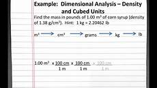 Dimensional Analysis Chart Chemistry 101 Dimensional Analysis Density And Cubed