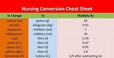 Dosage Conversion Chart Nursing Conversion Cheat Sheet Nclex Quiz