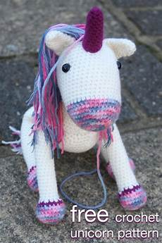 crochet unicorn pattern bright colorful with easy