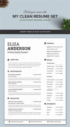 Clean Resume Template Free Personalize A Modern Resume Template In Ms Word