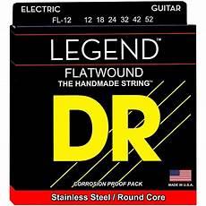 Light Gauge Flatwound Guitar Strings Dr Strings Legend Light Flatwound Electric Guitar Strings