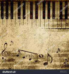 Music On Paper Music Notes On Old Paper Sheet Background Stock Photo