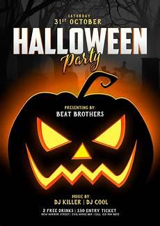 Party Poster Template Free Halloween Party Nightclub Poster Flyer Design