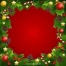 cornice natalizie cornice di natale con vischio vettore gratis