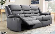 Gray Reclining Sectional Sofa 3d Image by Sorrento Grey Leather 3 Seater Recliner Sofa Furniture