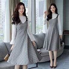 2017 korean new dresses slim sleeve casual empire
