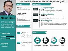 Visual Designer Resume Sample Visual Resume Ppt Sample For Graphic Designer Powerpoint