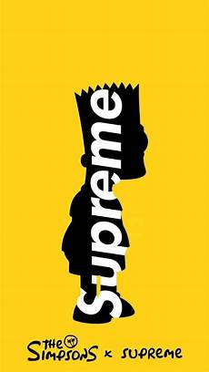 yellow supreme wallpaper supreme bart wallpaper by trippie future 9f free on zedge