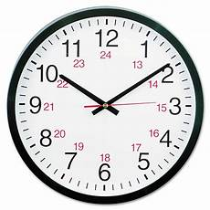24 Hour Clock Time Universal 24 Hour Round Wall Clock Unv10441 Ebay