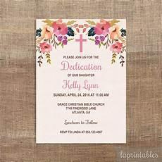 Baby Dedication Invitation Templates Editable Baptism Or Dedication Invitation Template Pink