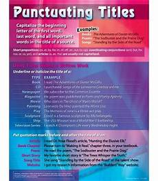 Punctuation Of Titles Punctuating Titles Chart Carson Dellosa Publishing