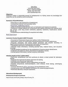 Phlebotomist Skills Phlebotomy Resume Includes Skills Experience Educational