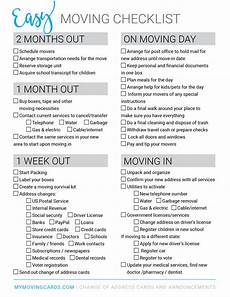 Packing To Move Checklist Moving To A New City The Before During And After