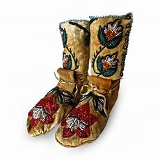 shoshone indians pair of plateau beaded child s high top
