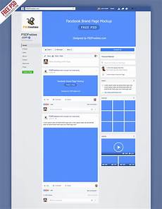 Facebook Page Template Free Facebook Mockup Fanpage 2016 Free Template On Behance
