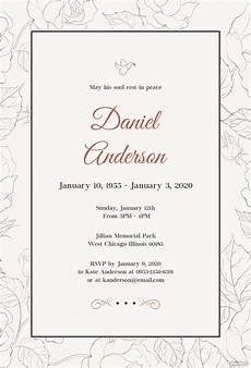 Funeral Invitation Sample Free Simple Funeral Invitation Template In Psd Ms Word