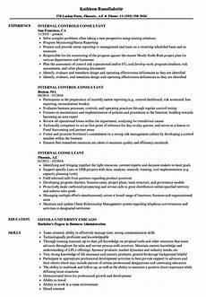 Internal Resume Template Internal Consultant Resume Samples Velvet Jobs