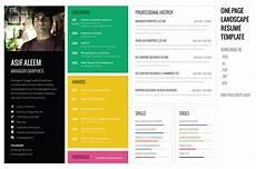 Professional Creative Resume Landscape Resume Cv Template Resume Templates