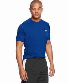 armor mens tech sleeve t shirt armour tech sleeve t shirt in blue for