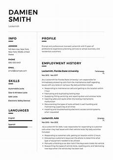 How To Send Resumes Locksmith Resume Amp Writing Guide 12 Samples Word