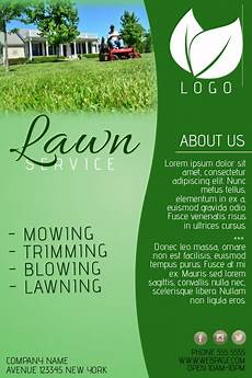 Lawn Maintenance Flyers Lawn Service Company Flyer Template Postermywall