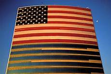 American Flag Office Flags American Flag On Office Building David Sanger