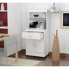 kitchen cabinet storage white microwave cart stand