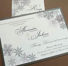 Winter Wedding Invitation Templates Lacy Snowflake Winter Wedding Invitation December January
