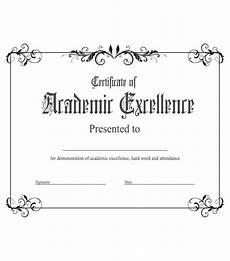 Academic Award Certificate Academic Excellence Award Kukook