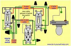 3 Way Switch Light And Outlet Wiring Diagrams To Add A New Receptacle Outlet Do It
