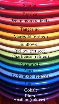 Fiesta Dishes Color Chart Fiestaware Colors By Year Fiesta Color Chart For Shop