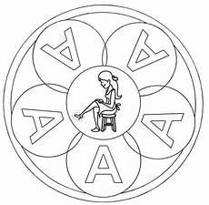 www kinder malvorlagen buchstaben mandala ausmalbild mandalas mandala buchstabe a zum ausmalen