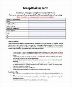 Restaurant Forms And Templates Free 10 Restaurant Reservation Forms In Pdf