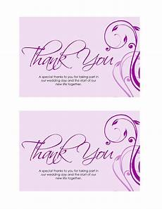 Thank You Page Template Free Download 30 Free Printable Thank You Card Templates Wedding