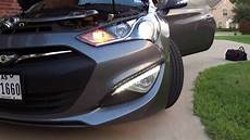 Genesis Coupe Lights Led Drl Always On With Diode Mod 2013 Genesis Coupe Youtube
