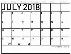 Writable Calendar Free 5 July 2018 Calendar Printable Template Source