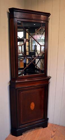 inlaid mahogany corner cabinet antiques atlas