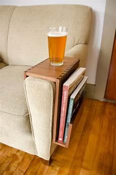 custom sofa arm table with book pocket wilbur davis studios